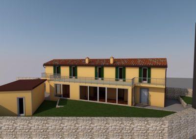 Render ristrutturazione integrale casa a Opicina by Blizstudio
