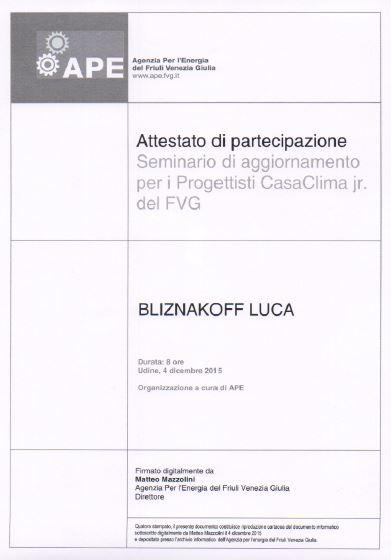 APE Casaclima Luca Bliznakoff
