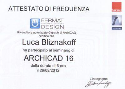 Archicad 16 Luca Bliznakoff