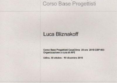 Casa Clima corso progettisti Luca Bliznakoff
