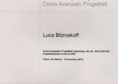 Casa clima corso avanzato progettisti Luca Bliznakoff