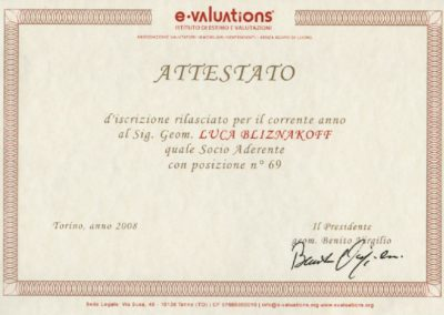 E-valutations estimo avanzato Luca Bliznakoff