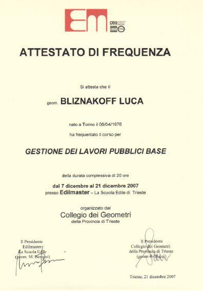 Edilmaster Gestione dei lavori pubblici Luca Bliznakoff