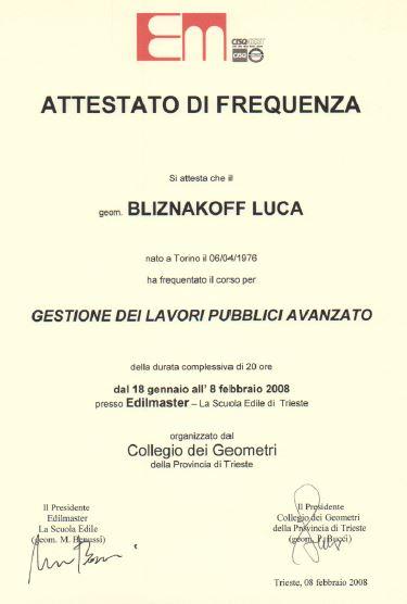 Edilmaster Gestione lavori pubblici avanzato Luca Bliznakoff