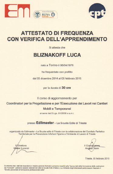 Edilmaster Luca Bliznakoff
