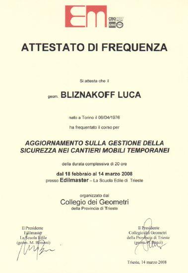 Edilmaster Sicurezza nei cantieri Luca Bliznakoff