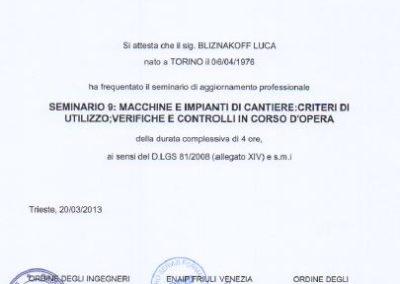 Enaip macchine e impianti di cantiere Luca Bliznakoff