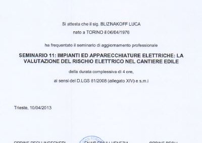 Enaip rischi elettrici Luca Bliznakoff