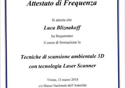 Tecniche di scansione ambientale 3d Laser Scanner Leica geom. Luca Bliznakoff