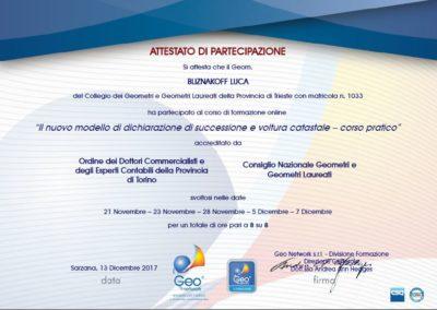 Il nuovo modello di dichiarazione di successione e voltura catastale - Corso Pratico- geom. Luca Bliznakoff - Blizstudio