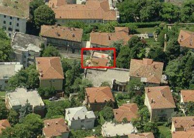 vista satellitare progetto villa via Commerciale Trieste - Blizstudio