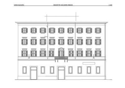 Prospetto post rilievo Laser Scan 3d palazzo storico di Trieste - BlizStudio