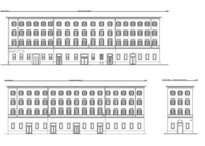 Prospetto post rilievo Laser Scan 3d palazzo storico di Trieste - geom. Luca Bliznakoff