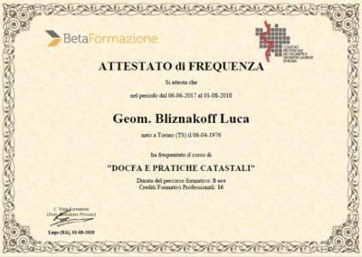 Corso Docfa e pratiche catastali Geometra Luca Bliznakoff BlizStudio Trieste