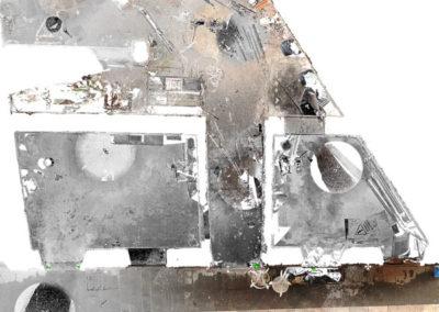 ortofoto da rilievo laser scanner 3d edificio via delle Beccherie Trieste BlizStudio