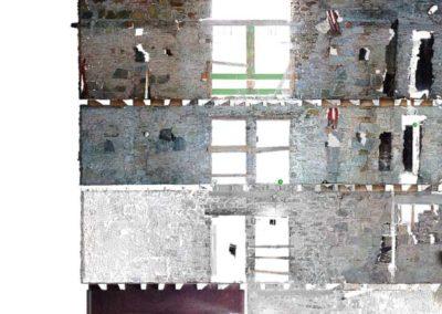 ortofoto edificio in vi delle Beccherie Trieste BlizStudio