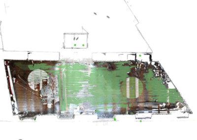 ortofoto rilievo laser scanner 3d edificio via delle Beccherie a Trieste BlizStudio